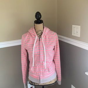 American Eagle Soft Cotton Pink/Tan Zip Up Hood SP